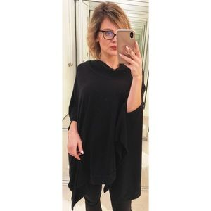 Project Social T Black Cowl Neck Poncho